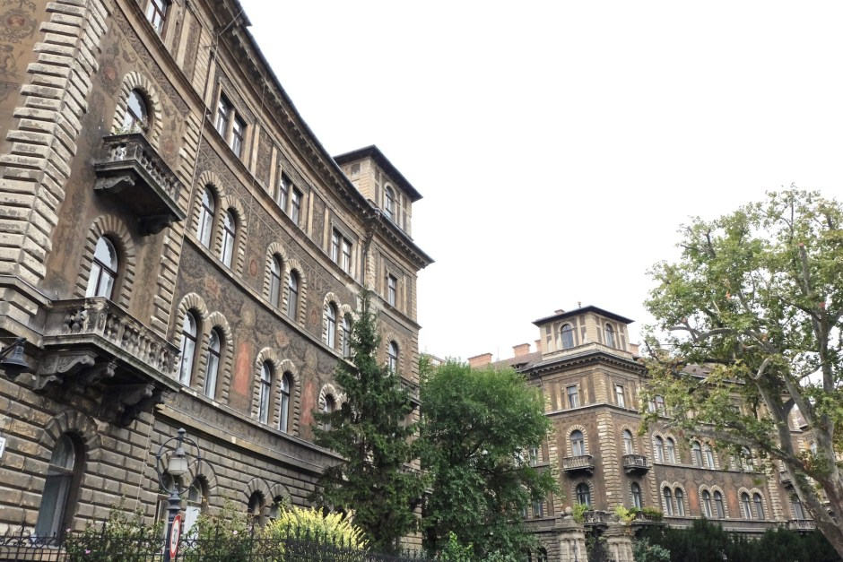 Buildings in Budapest Andrassy Street