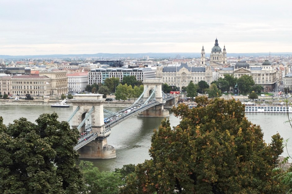 Szechenyi Chain Bridge view from buda castle