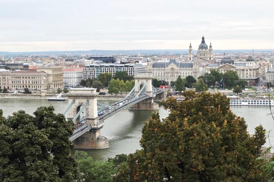 Szechenyi Chain Bridge view from buda castle