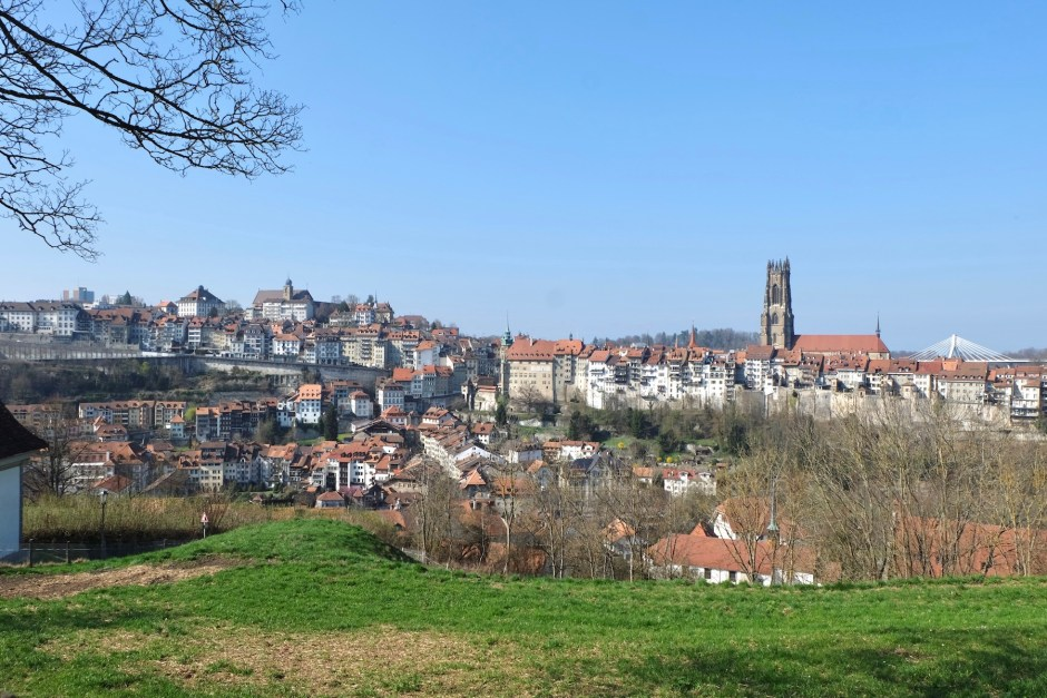 Fribourg Old Town View Swiss