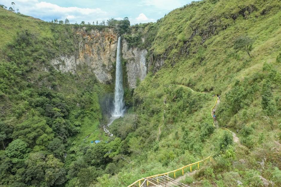 Sipiso-Piso Waterfall North Sumatra Lake Toba