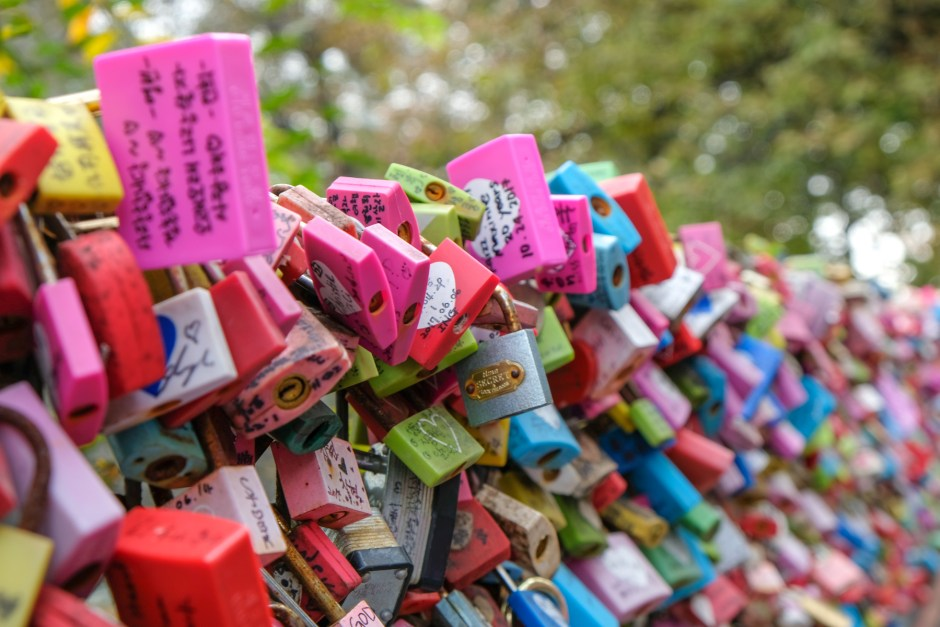 Namsan Tower Love Lock Seoul Korea