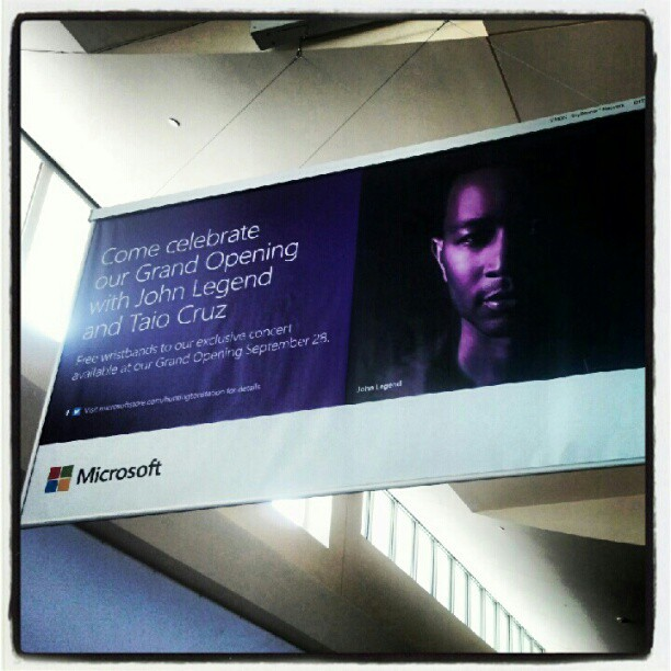 Free John Legend & Taio Cruz tomorrow at the Walt Whitman Mall for the Microsoft Store grand opening.#johnlegend #taiocruz #free #concert #longisland
