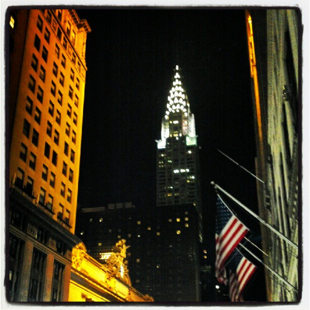 Chrysler Building & Grand Central #NYC #landmark #night #building