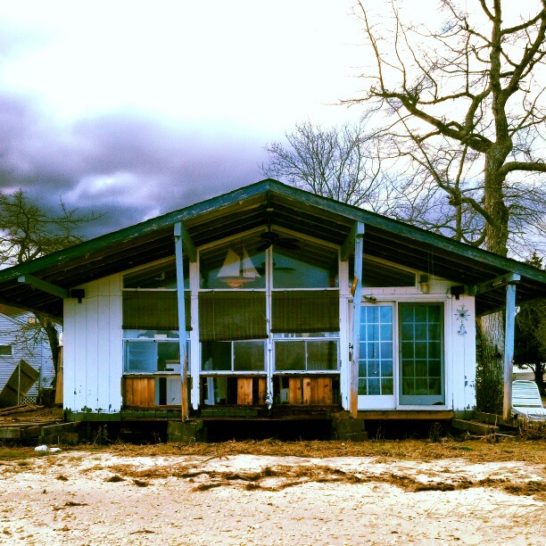 Wrecked home#sandy #hurricane #damage #hamptons #longisland