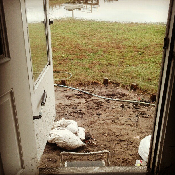 Look Ma, no porch ! #sandy #longisland #hurricane #disaster