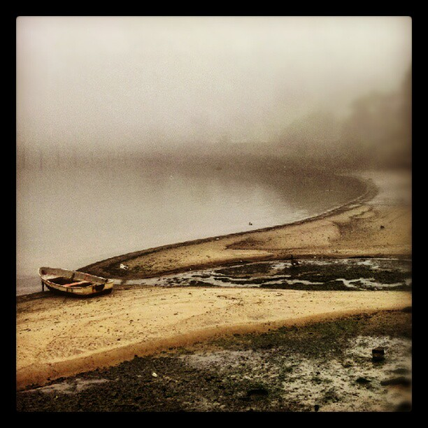 Foggy Stillness #forttotten #NYC #Bayside #Queens #fog #seascape #painterly