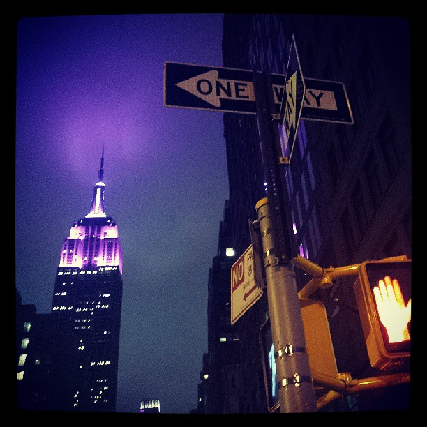 Empire State Building in Purple #photography #newyork #landmark #awesome