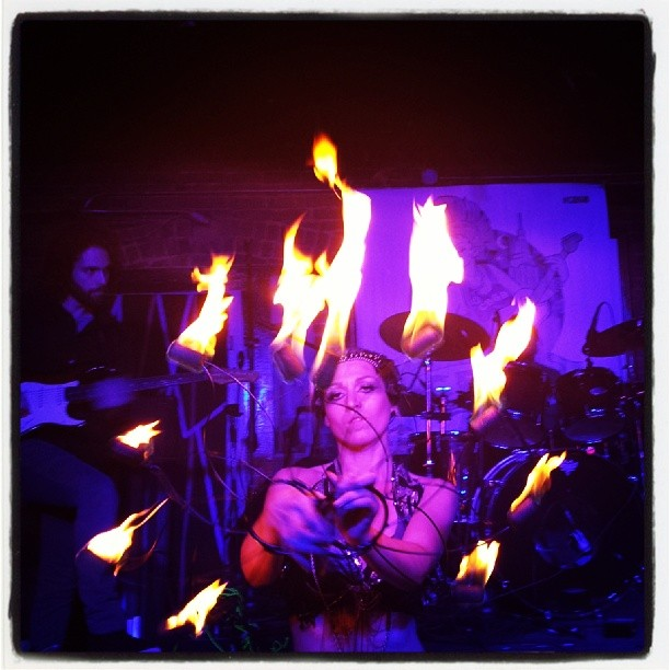 Hot girls spinning fire to prog rock #music  #tbaims #love #fire #fascinating