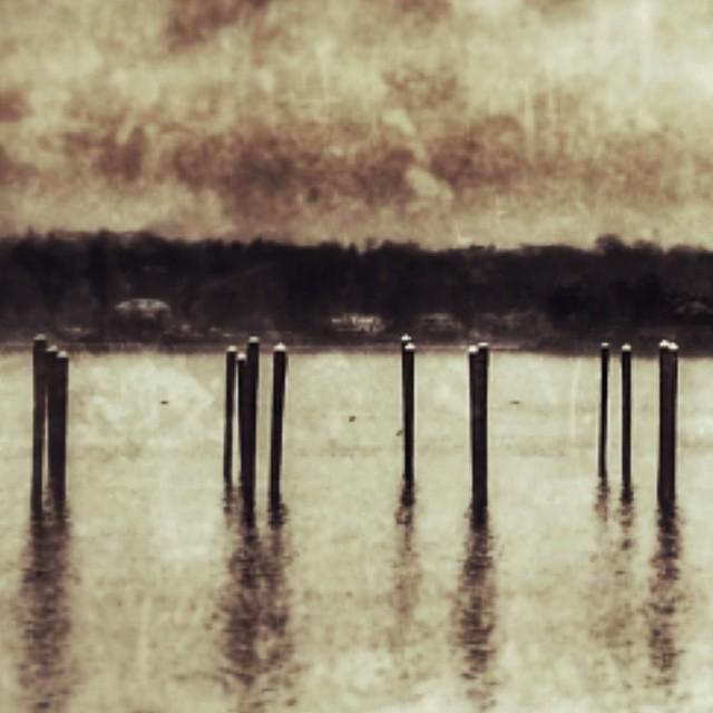 Winter #bayside #queens #newyork #water #bay #pylons #boats #empty #sky #adoramapix #sadness