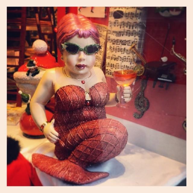 Mermaid in the Window #mermaids #fun #cute #red #mythological #cocktail