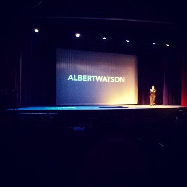 Albert Watson speaking at #ideasharenyc for #asmpy #master #photographer #art