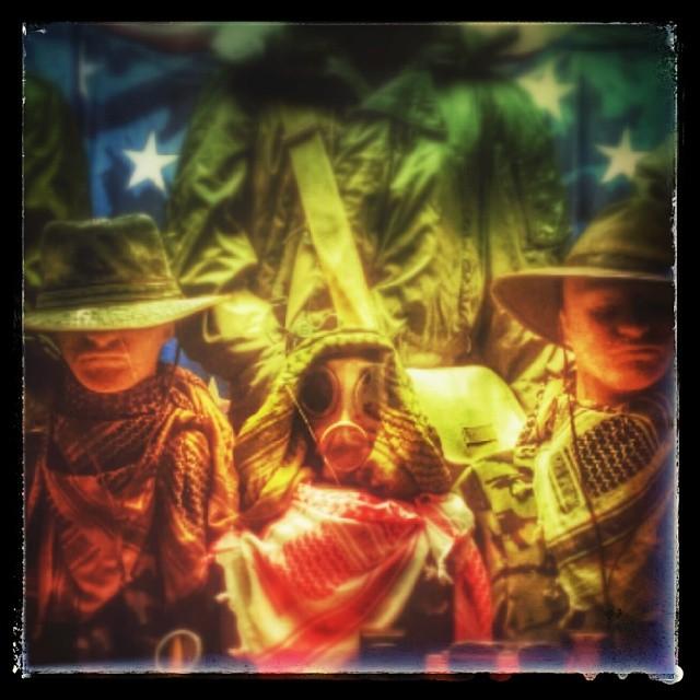 Army Navy Store, 42nd Street #army #navy #military #gasmask #scary #newyork