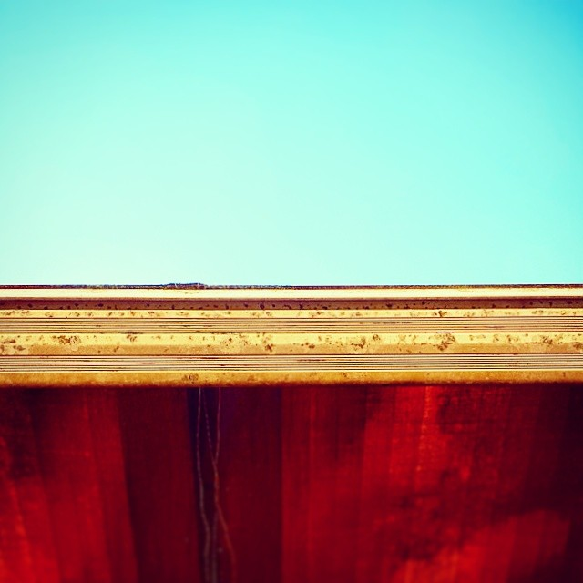 Awning #sky #summer #orange #blue  #warmth