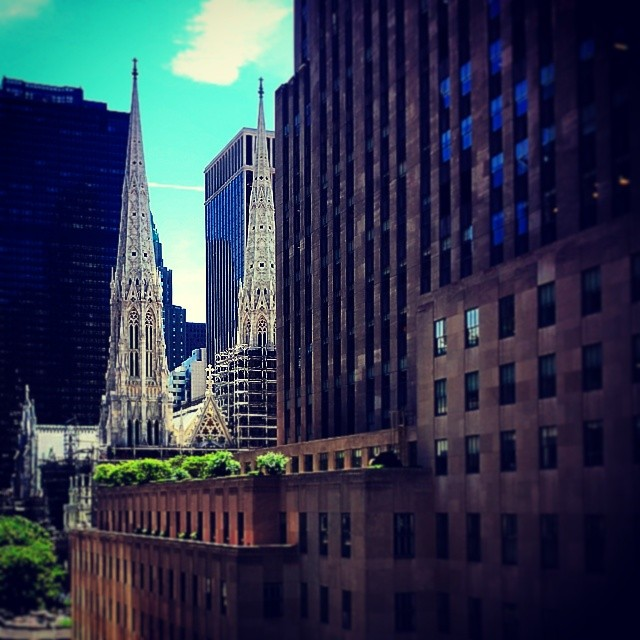 St . Patrick's Spires #cathedral #newyork #catholic #landmark #rockerfellercenter