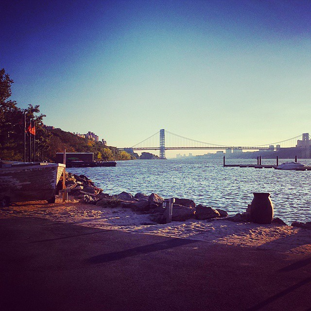 Gorgeous view of the GWB & Hudson River #landscape #newyorkcity #inwood