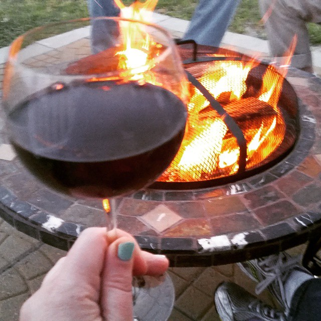 Life is good. #memorialdayweekend #fire #wine #hamptonbays #happy