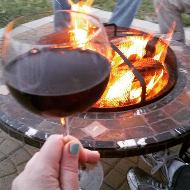 Life is good. #memorialdayweekend #fire #wine #hamptonbays #happy