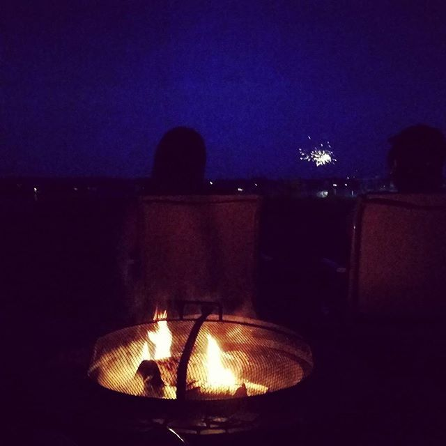 Firepit and #fireworks #4thofjuly #freedom #independenceday