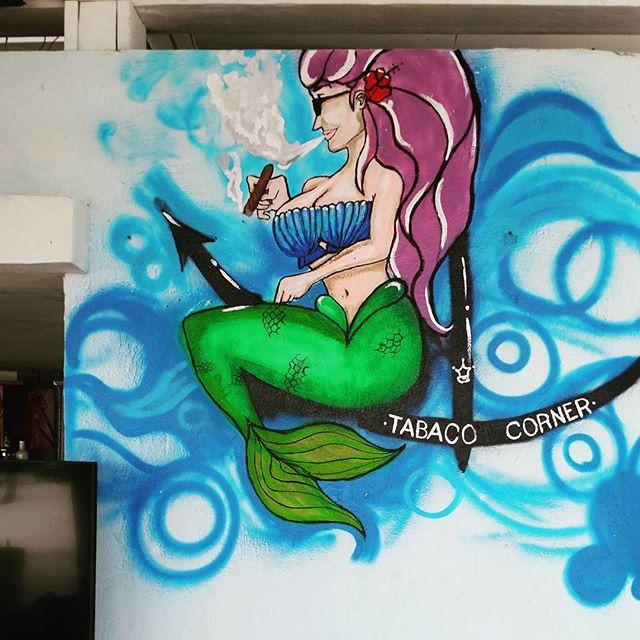 Dominican #Mermaid #capcana #puntacana #domincanrepublic #cigarsmokingmermaid
