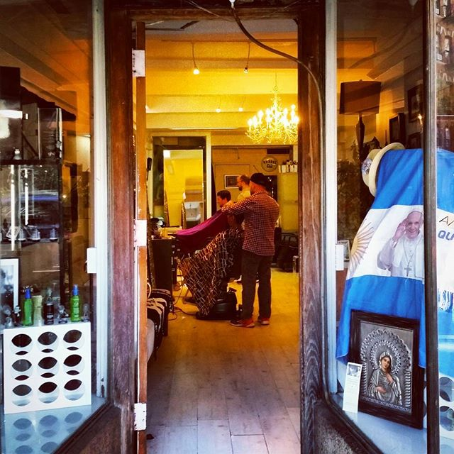 Barbershop, West Village #newyork #sliceoflife #greenwichvillage #argentina #popefrancis #thisisamerica #catholic