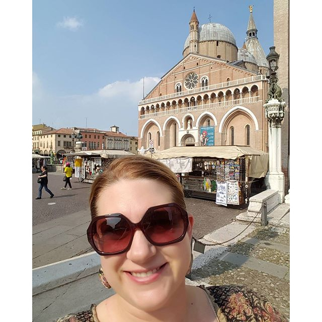 Selfie in front of the Basilica of Sant'Antonio #padova #italy #stanthony #helpilostsomething