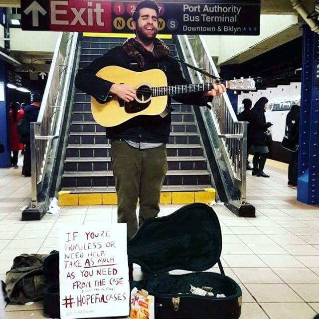Guitar Man !  #hopefulcases #music #subway #busking #busker #lovethis