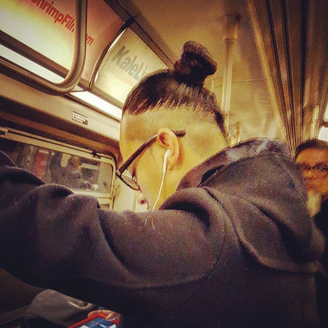 Manbun, A Train, 2017 #mta #manbun #atrain #portrait #portraitphotography #newyork #newyorkphotographer