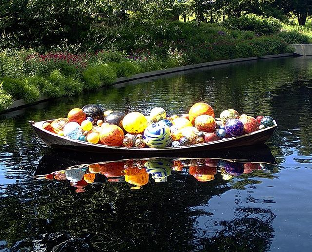 Chihuly's Balls #nybg #chihuly #aperfectsunday #glassart #color #beauty