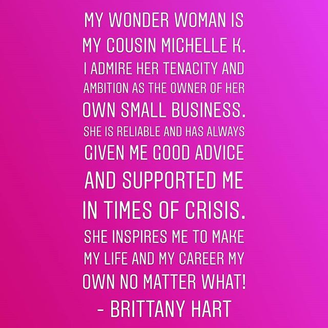 Thank you @haveahalo for this beautiful compliment.  I'm #honored to be your Wonder Woman.  #womenshistorymonth #wonderwoman #thankyou #blessed #family
