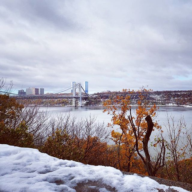 The GW & Hudson #hudsonriver #nyc #latergram #gwbridge #nyc #newyork #newyorkcity #Washingtonheights #hudsonheights