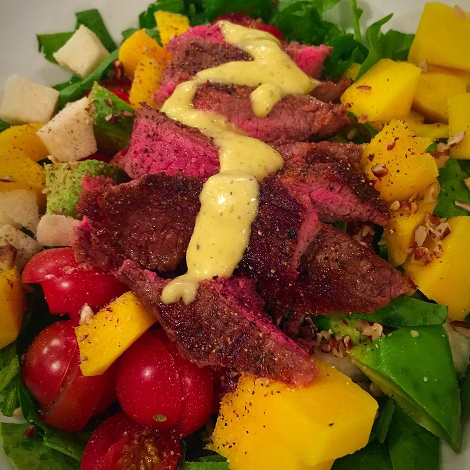 salad mango steak clean eating healthy living