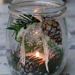 Stamped Glass Jar using Stampin Up supplies