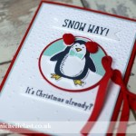 Gift Card Holder using Snow Place from Stampin Up