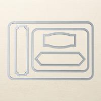 PL cards & labels framelit dies