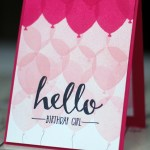 balloon celebration stampin up