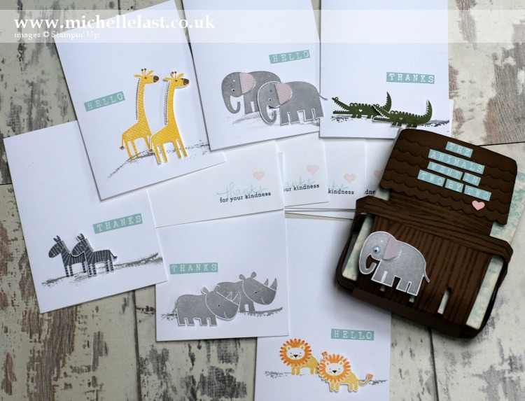 Zoo Babies Noahs Ark Notecard Box