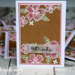 Love & Affection from Stampin Up - Thank you card