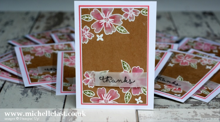 Love & Affection from Stampin Up - Thank you card for Stampin Up Cruise