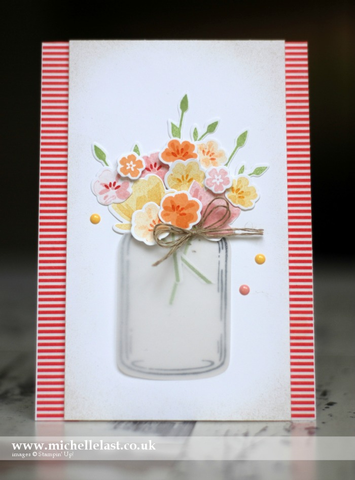 Jar of Love Vase of Flowers - Pinkies Blog Hop