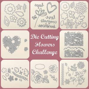 Die Cut Flower Challenge