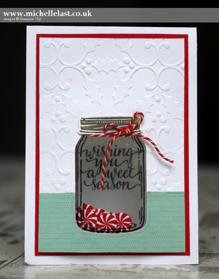 Jar of Love Christmas Shaker Card