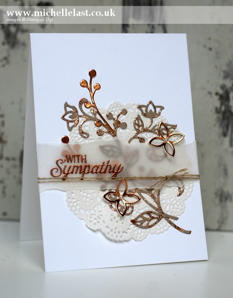 Sympathy Card made using-flourish-thinlits
