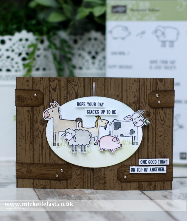 barnyard babies from Stampin Up