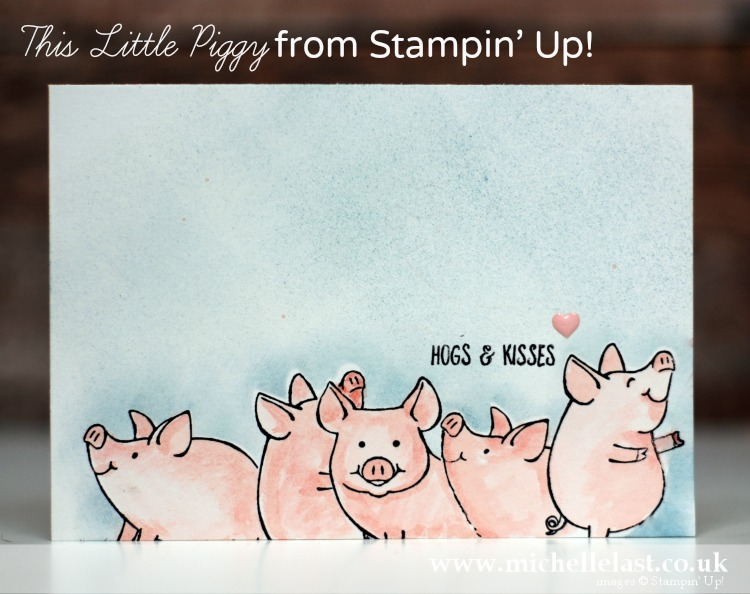 This LIttle Piggy from Stampin Up
