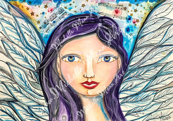 Blue Angel by Michelle Mann copyright Michelle Mann 2017 all rights reserved