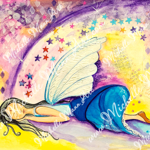 Dreaming Fairy by Michelle Mann copyright Michelle Mann 2017 all rights reserved