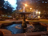 At one of the squares on my run
