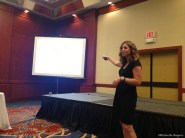 Katy Widrick discussing media kits, the session I was most looking forward to.