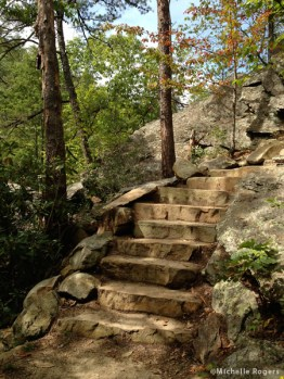 Steps going up